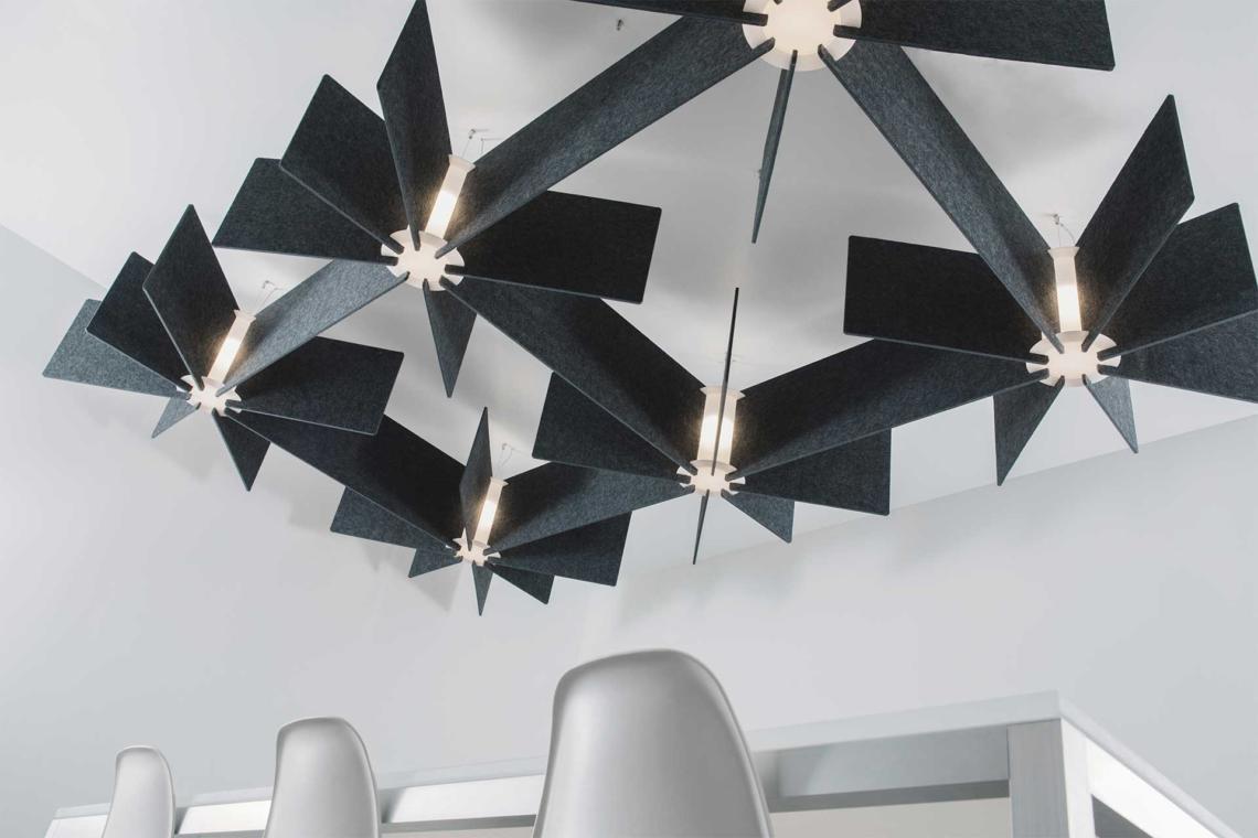 Acoustic Light Fixtures : Lightart echo grid