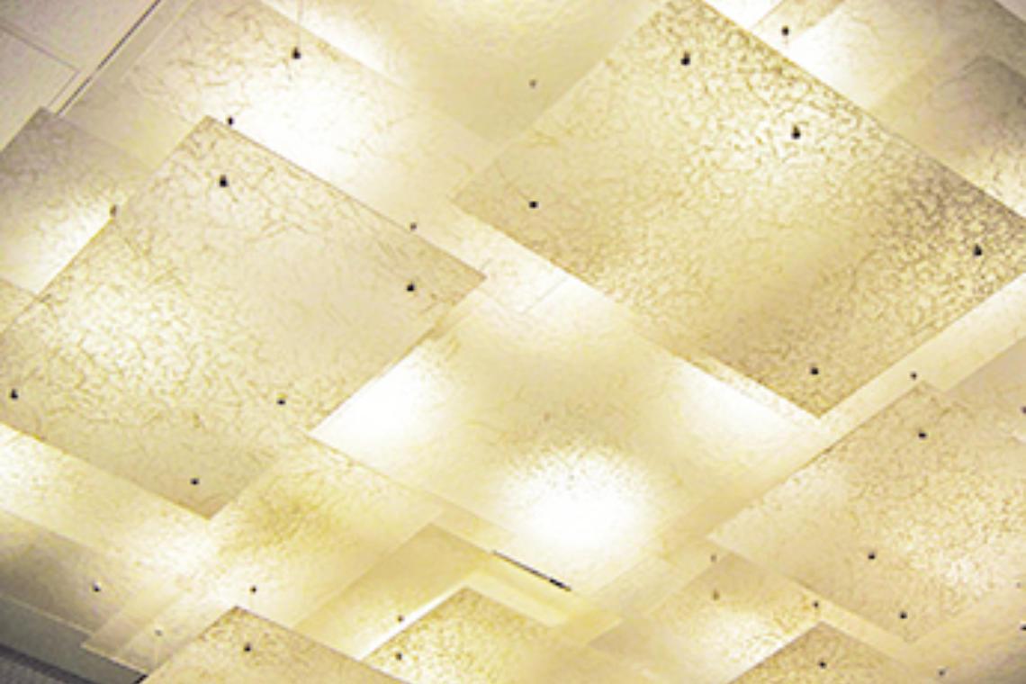 LightArt | Ceiling Application - Shawnee State University for Ceiling Light Sculpture  55nar