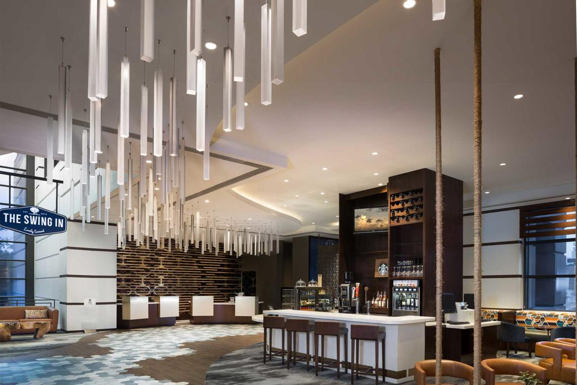 Lightart custom pendant mobile sheraton austin for Designhotel jaz