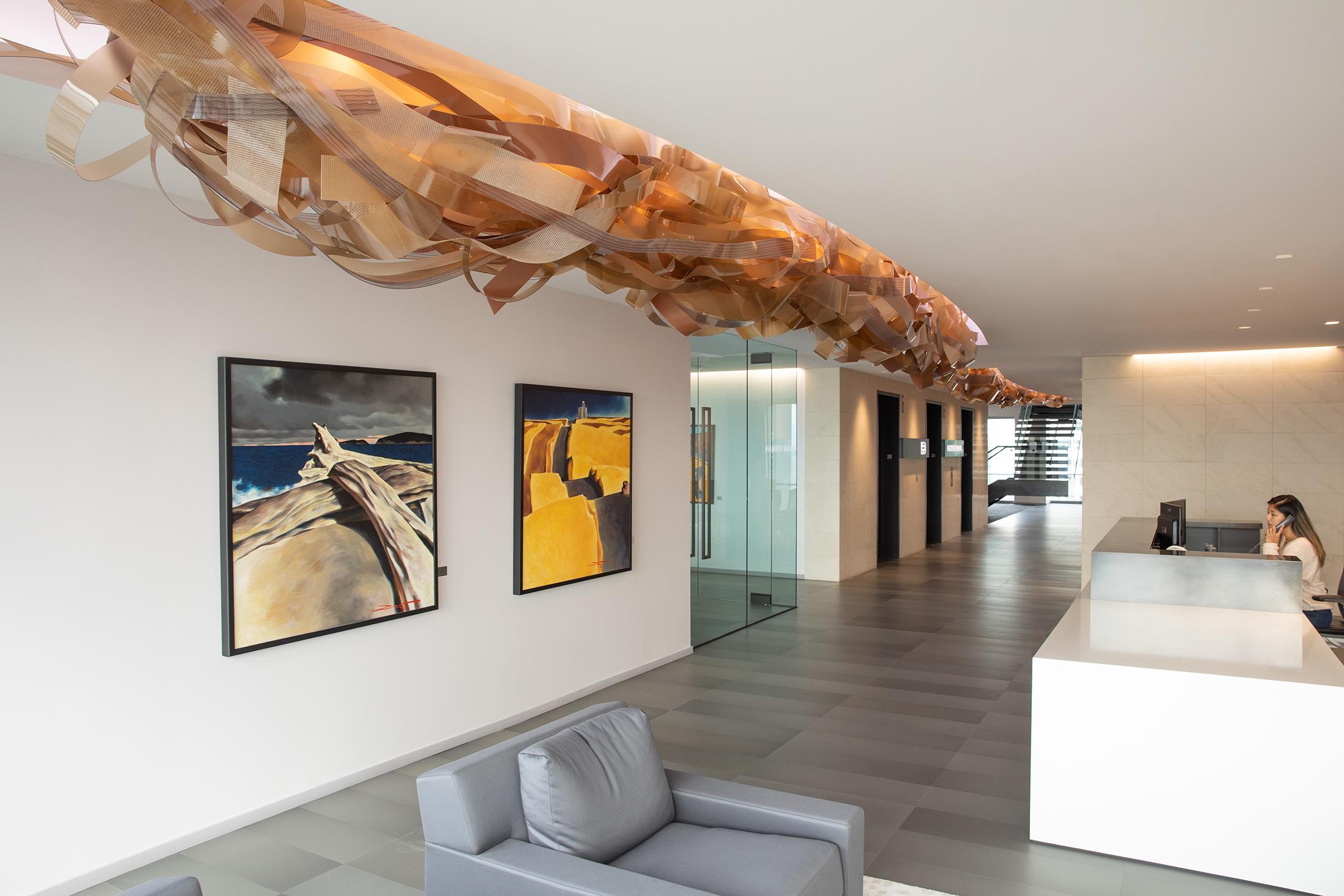 Hagens Berman Sobol Shapiro LLP | Linear Ribbon Sculpture