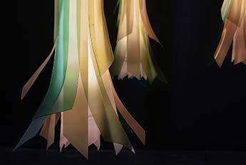 Bamboo Ribbon Chandelier