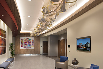 Baylor Heart Hospital | Custom Ribbon Sculpture