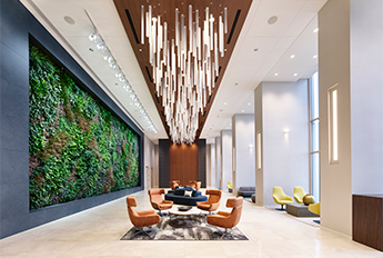 Tishman Transfer Lobby | Custom Mobile Pendants