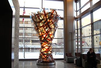 Ribbon Sculpture - Tower Lobby