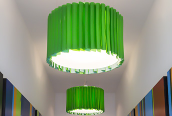 Green Folded Drum - Office