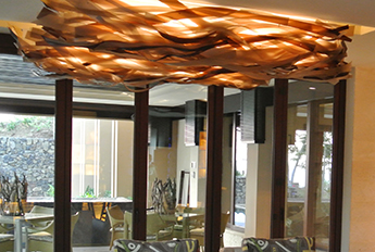 Ribbon Light Fixture : Lightart folded linear westin hotel