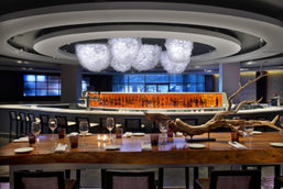 Custom Hydrangea Chandelier - Hyatt Regency